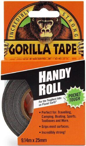 Gorilla 3044401 Tape Handy Roll, 1-Pack, Black.