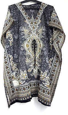 Short Caftan - Kaftan Short Dress Hippy Boho Maxi Plus Size Women Caftan Summer Night-Gown