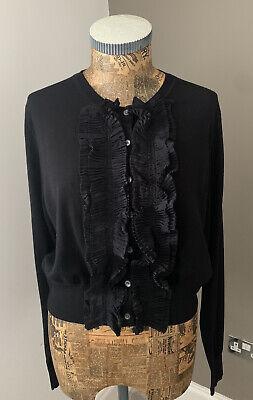 Paul Smith Ladies Black Label Ruffle Cardigan Size Medium . BNWT