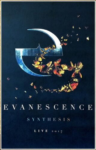 EVANESCENCE Synthesis Tour 2017 Ltd Ed RARE New Poster +FREE Rock Metal Poster!