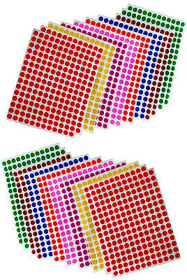 Dot Stickers 14 Inch 8 Mm Circular Small Round Color Coding Labels 900 Pack
