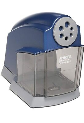 X-acto Schoolpro Classroom Electric Pencil Sharpener Heavy Duty Bluegrey Strong