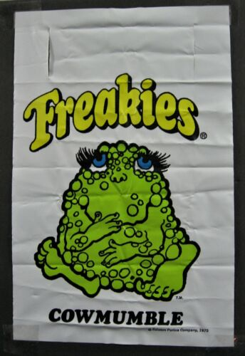 Vintage 1975 Cowmumble Freakies Cereal Toy Banner Sign Unused Old Store Stock