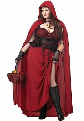 California Costumes 01719 Plus Dark Red Riding Hood