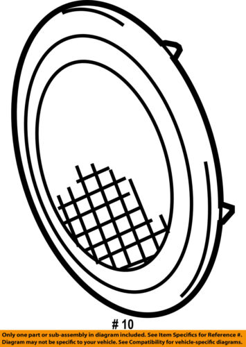 Toyota Oem 09 11 Rav4 Back Door Speaker Cover Grille Grill