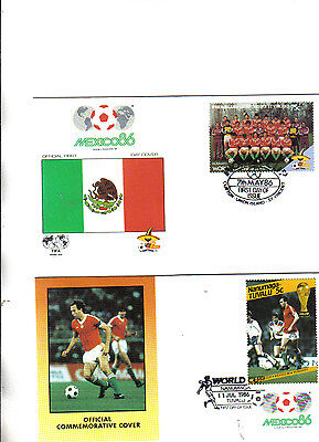 2 1986 world cup first day covers featuring hungary