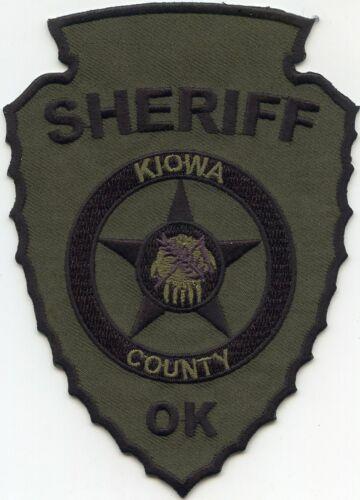 KIOWA COUNTY OKLAHOMA OK Indian Arrowhead Shaped SHERIFF POLICE PATCH