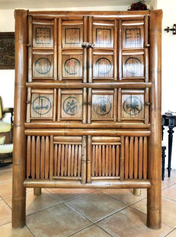 Chinese Bamboo Kitchen Cabinet