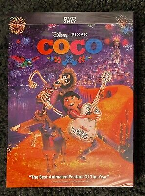 Disney/Pixar: Coco DVD (New, 2018, Free Shipping)
