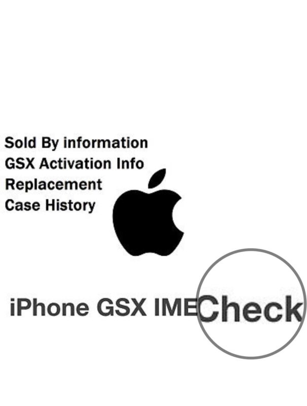 APPLE GSX SOLD TO COMPANY, COUNTRY, REPLACEMENT & CASE HISTORY CHECK# very cheap