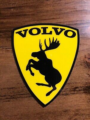 "GENUINE Discontinued Traditional Prancing Moose VOLVO 3"" Adhesive Vinyl Decal"