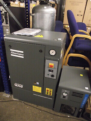 Single Phase Gx5 Atlas Copco 7.5 Hp Rotary Screw Air Compressor And Dryer