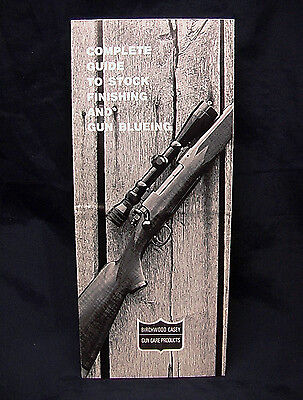 1971 Birchwood Casey COMPLETE GUIDE TO STOCK FINISHING & GUN BLUEING - FREE Shpg