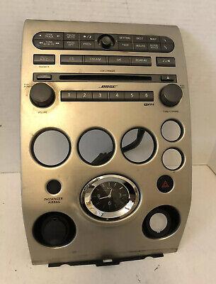 2004 2005 2006 2007 Infiniti QX56 Dash CD Radio Player Climate Control Bezel OEM Silver Desktop Receivers