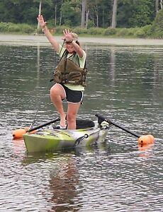 Kayak stand ebay for Beginner fishing kayak