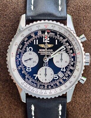 Breitling Navitimer 42 Black Boxes Calf Leather Automatic Pilot Aviation A23322