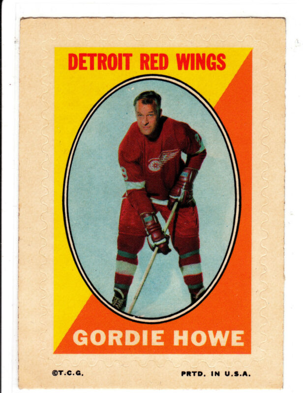 Gordie Howe, 1970 Topps/OPC Sticker, Must See!