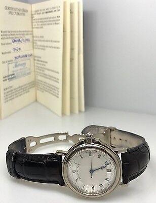 Breguet Horloger De La Marine 18k White Gold Date Automatic Mens Watch