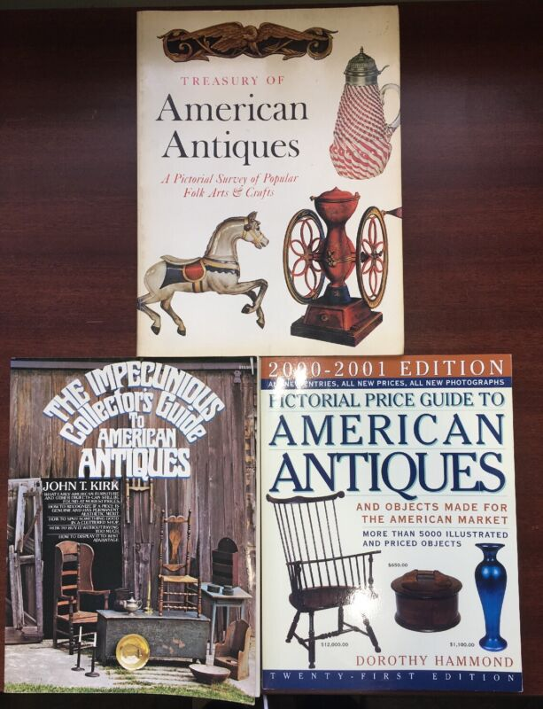 Book Lot American Antiques Collectors Guide