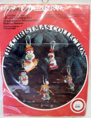"Paragon Needlecraft ""Christmas Friends"" 5 Christmas Ornaments Kit"