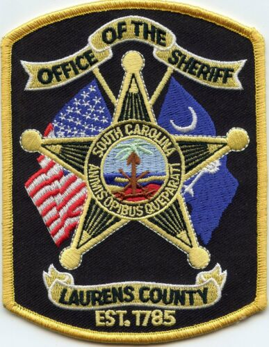 LAURENS COUNTY SOUTH CAROLINA SC Yellow Border SHERIFF POLICE PATCH