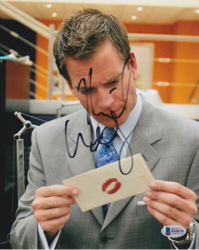 MICHAEL WEATHERLY SIGNED 8X10 PHOTO BULL NCIS BECKETT BAS AUTOGRAPH AUTO COA D