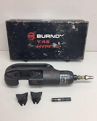 Burndy Y46 Hypress Remote Hydraulic Crimping Head W Case Dies