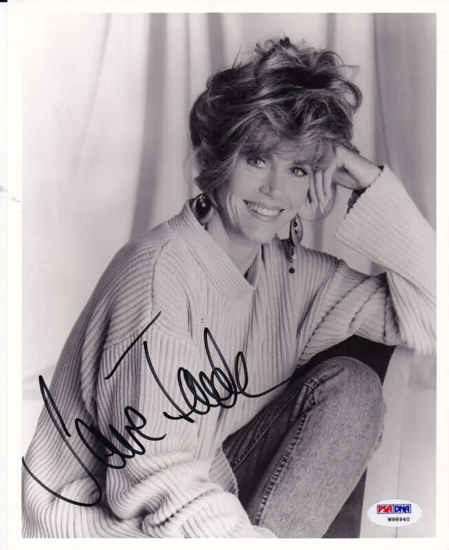 JANE FONDA signed authentic autographed 8x10 vintage photo PSA DNA COA AUTO