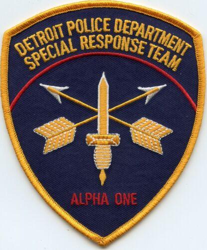 DETROIT MICHIGAN MI Special Response Team SRT SWAT POLICE PATCH