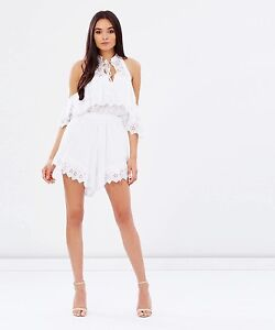 Alice McCall White White Room Playsuit size 6 Burleigh Waters Gold Coast South Preview