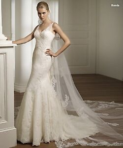 Pronovias Rhonda beaded and lace wedding gown