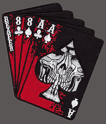 Reaper Dead Mans Hand Aces Reaper Skull Spade Iron On Mc Patch By Miltacusa