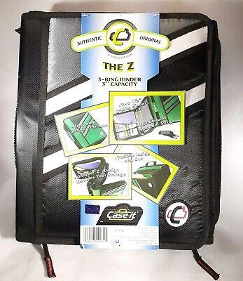 Case-it Z-binder Two-in-one 1.5-inch D-ring Zipper Binders Double Storage School