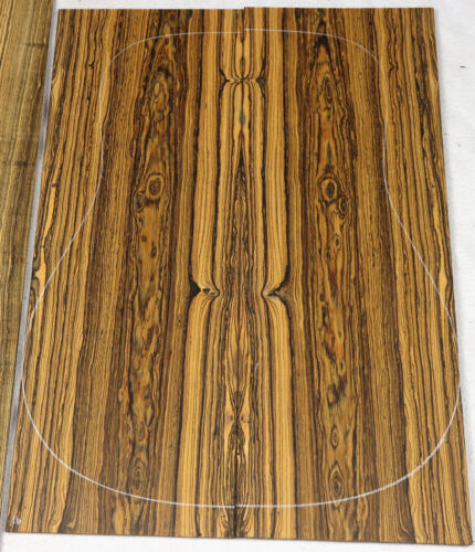Spiderweb figure Bocote dreadnought acoustic guitar back and side set BO16