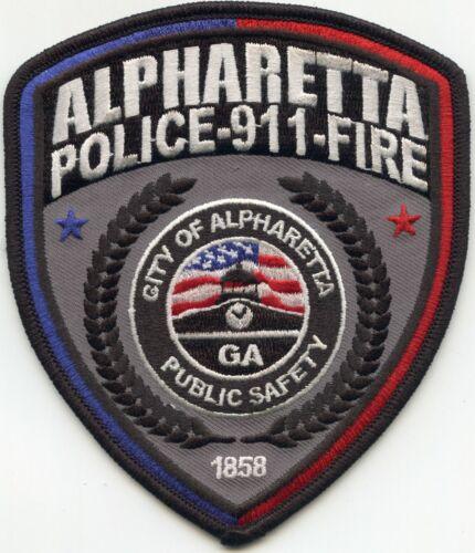 ALPHARETTA GEORGIA GA style #B PUBLIC SAFETY 9-1-1 DISPATCHER FIRE POLICE PATCH
