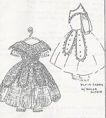 "18-19""ANTIQUE FRENCH FASHION/ROHMER/HURET LADY DOLL@1865 DRESS&UNDIES PATTERN"