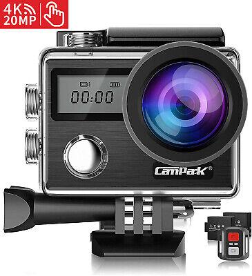 Campark X20 4K 20MP Action Camera TouchScreen 30M Waterproof Video Helmet Cam UK