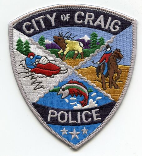 CRAIG COLORADO CO Jumping Fish POLICE PATCH