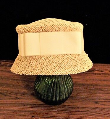 Vintage Cloche Straw Hat Peck & Peck 5th Ave NYC NEVER WORN!