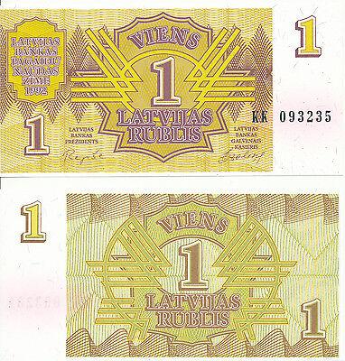 Lettland / LATVIA - 1 Rublis 1992 UNC - Pick 35, Serie KK