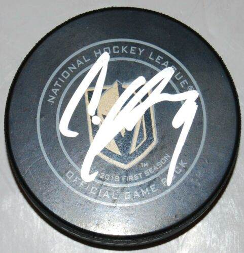 CODY GLASS signed (LAS VEGAS GOLDEN KNIGHTS) official NHL game hockey puck W/COA