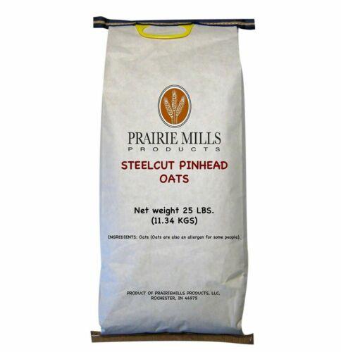 Prairie Mills Steelcut Pinhead Oats (25 lbs.)