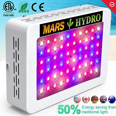 Mars 300W LED Grow Light Hydro Full Spectrum Hydroponic Indoor Veg Bloom Plant