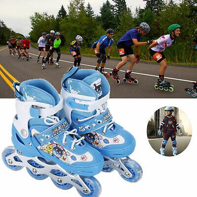 Kids Inline Skates Roller Shoes with Adjustable Size Light up Wheel Boy &Girl WF