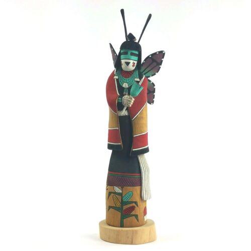 Signed Wood Mana Kachina Butterfly Girl Philman Harvey