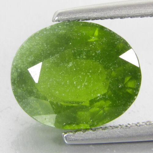 4.29Cts Classic Natural Green Grossular Garnet Oval Shape Loose Gem Ref VDO