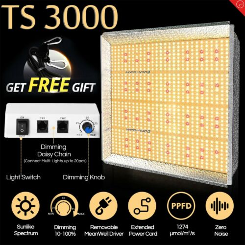 Mars Hydro TS 3000W LED Grow Light Full Spectrum Veg Bloom I