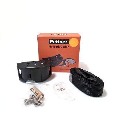 Petiner No Bark Collar, Sensitivity Adjustable, 6 Batteries Included, Uses 1