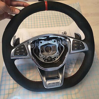 Mercedes AMG Lenkrad Alcantara, rote Nähte W205 cla x253 w213 usw