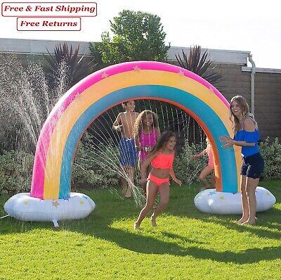 Kids Family Backyard Summer Inflatable Fun Magical Rainbow Cool Water Sprinkler